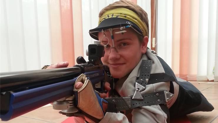 Dank der perfekten Liegeposition nun auch die Weltmeisterschaft im Visier: Die 19-jährige Meltingerin Sina Jeger.