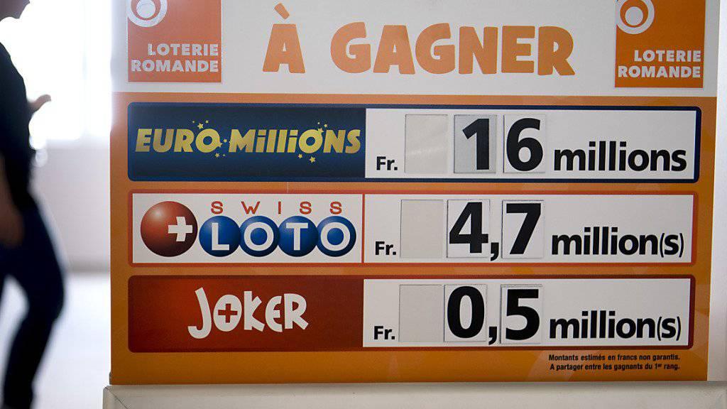 Beim Glücksspiel «Joker» hat eine Person aus der Westschweiz 1'542'346 Franken gewonnen. (Symbolbild)