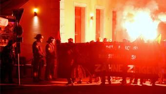 Antifa-Kundgebung in Solothurn. Der Kanton will randalierende Demonstranten künftig zur Kasse bitten. Archiv