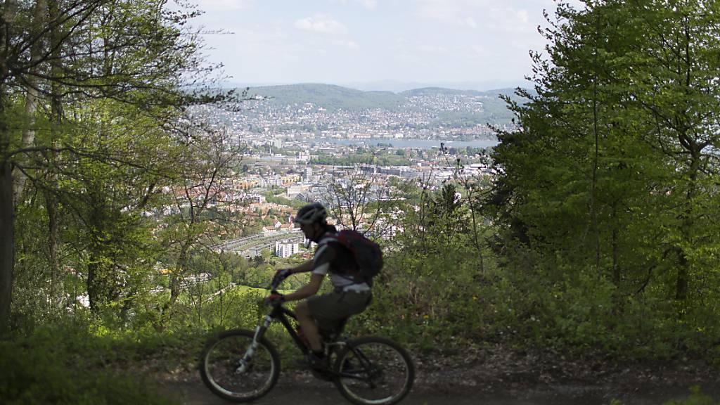 Ein 64-jähriger Mann ist mit seinem E-Bike auf einem Mountainbike-Trail in Pully VD tödlich verunfallt. (Themenbild)