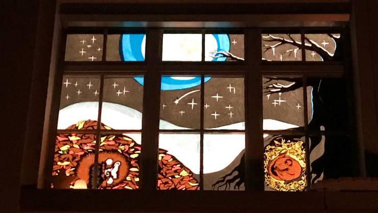 Adventsfenster von Familie Mazenauer in Welschenrohr