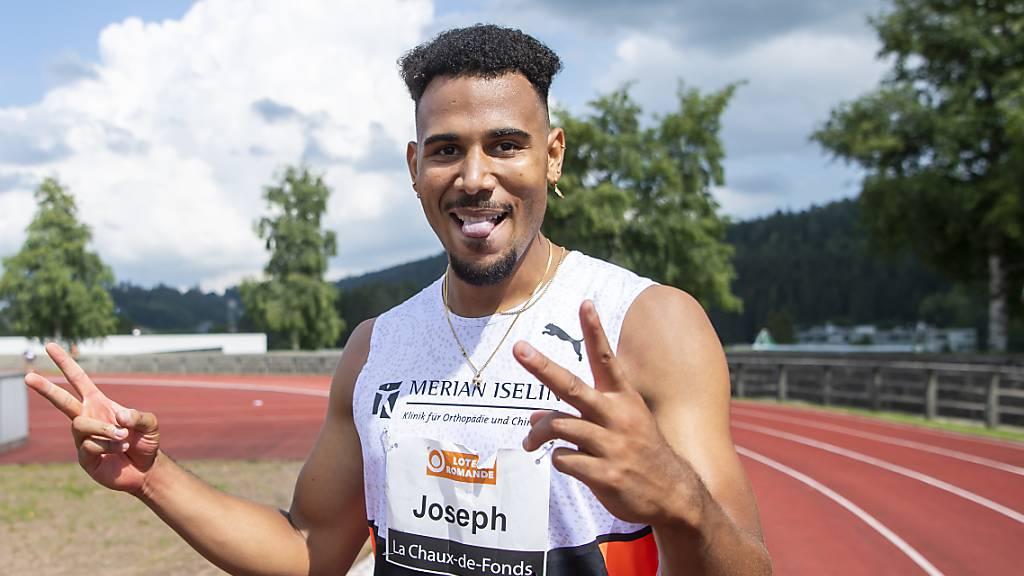 Überragende Zeit in La Chaux-de-Fonds: In 13,12 Sekunden unterbietet Jason Joseph den alten Schweizer Rekord über 110 m Hürden um satte 17 Hundertstel