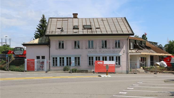 Das ehemalige Restaurant und Hotel Platanenhof in Frick wird abgebrochen.