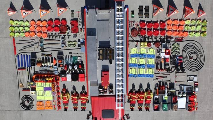 Auch Feuerwehr Bremgarten stellte sich der Tetris-Challenge.