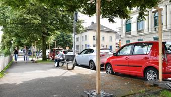 Auf dem Amthausquai gegenüber des Stadttheaters sollen 56 Veloparkplätze entstehen als Entlastung für die Veloparkings beim Oltner Bahnhof.