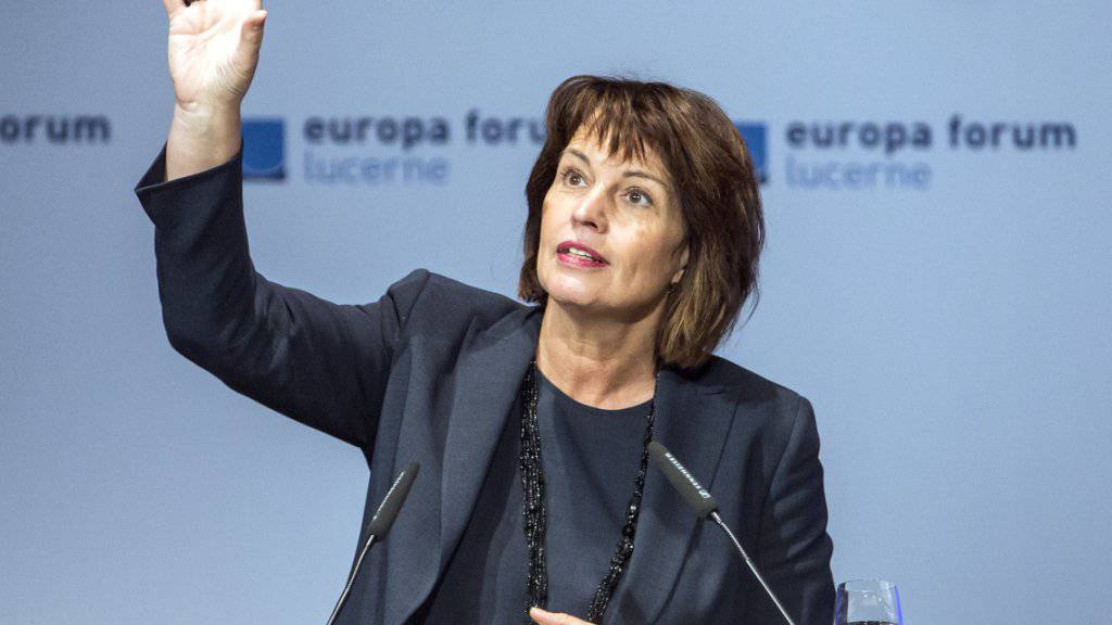 Bundespräsidentin Doris Leuthard sprach am Montag in Luzern zur digitalen Revolution.