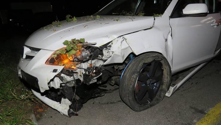 Ein Junglenker verunfallte am Donnerstagabend in Rupperswil.