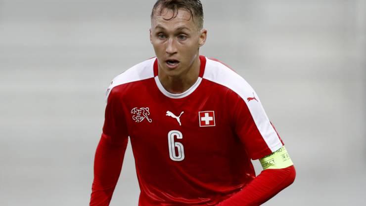 Nicolas Haas - hier im Dress der Schweizer U21 - verpasste mit Frosinone den Aufstieg in die Serie A