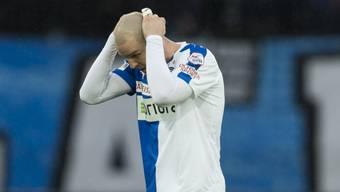 Rückkehrer Philippe Senderos: ernüchtert nach dem 0:4 beim Debüt mit GC gegen Basel
