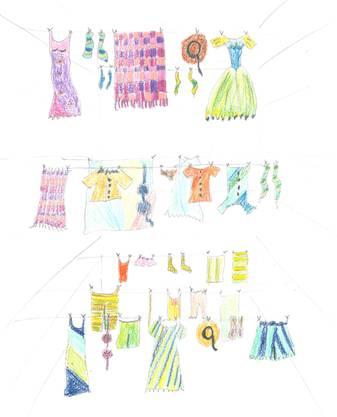Leinen mit farbenfroher Wäsche erfreuen den Innenhof und versetzen die Betrachter in gute Laune. «Ich möchte damit Leben in den Hof zaubern, zum Schmunzeln und Träumen anregen», sagt Tanya Böniger. Die Wäscheleinen hätten etwas Nostalgisches: «Dort wo Mamas und Nonnas ihre Wäsche zum Trocknen aufhängen, kommt eine friedliche Stimmung auf.»