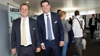 AKB-Regionaldirektor Marc Hunsperger (l.) und Mark Schönenberger, Leiter Privat- und Geschäftskunden. ubu