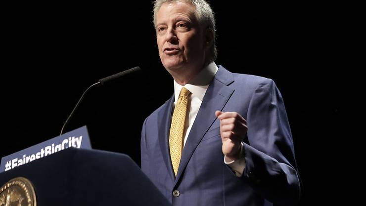 Der Bürgermeister New Yorks Bill de Blasio will US-Präsident werden. (Archivbild)