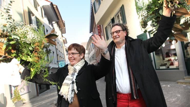 Die grossen Wahlsieger: Ruth Müri und Geri Müller.