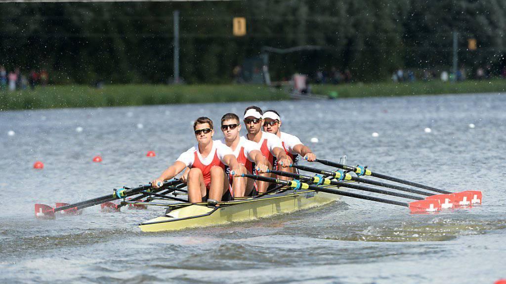 Der Schweizer Doppelvierer hat die Selektionskriterien für Rio erfüllt
