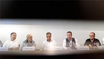 (v.l.): Urban Fink, Stephan Wild, Rémy Wyssmann, Urs Unterlerchner und Beat Bader.