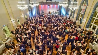 780 Teilnehmer – ein neuer Rekord – besuchten den Neujahrsapéro des Aargauischen Gewerbeverbands im Kultur- und Kongresszentrum Aarau.