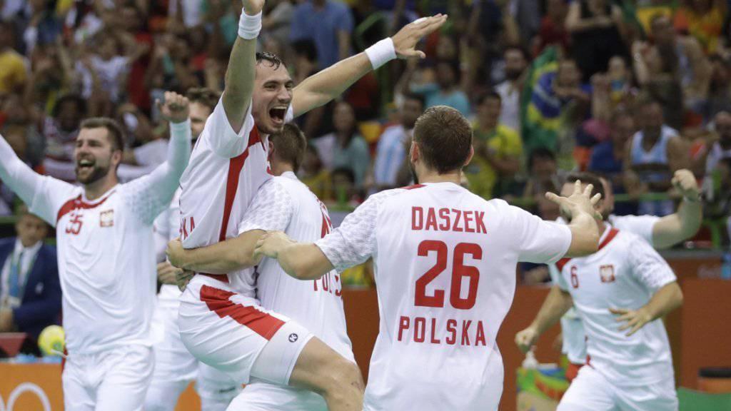 Bei den polnischen Handballern herrscht nach dem Überraschungserfolg gegen Kroatien Feierlaune