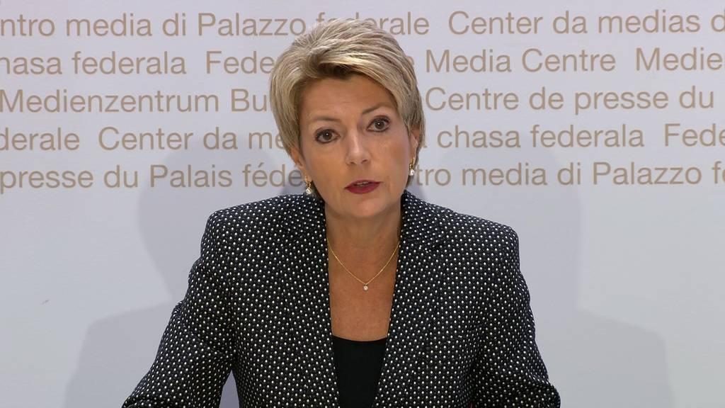 Karin Keller-Sutter: «Die Initiative ist ein Eigentor»