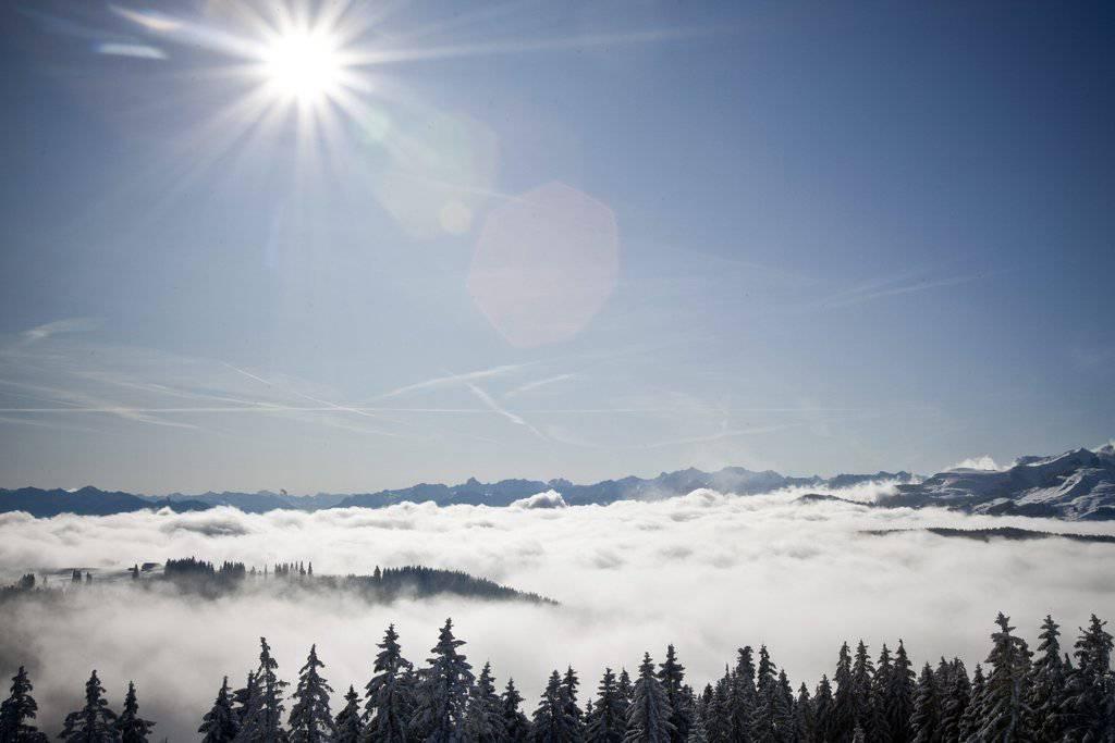 Aussicht vom Oberen Gäbris. (Bild: KEYSTONE/Ennio Leanza )