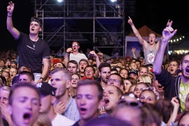 Am Heitere Open Air 2018 in Zofingen versetzte der Schweizer Musiker am Samstagabend Trauffer das Publikum in Begeisterung.