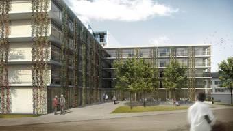 Die Visualisierung zeigt, wie sich der neue Lindenpark nach rund zweieinhalb Jahren Bauzeit präsentieren wird. zvg