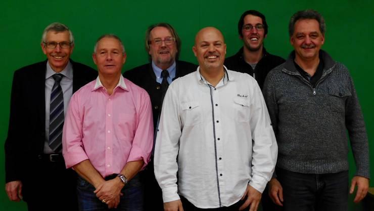 v.l.n.r. Ueli Rieder (Finanzen), Steve Kägi (Senioren), Peter Haller (Präsident), Giovanni Califano (Junioren), Patrick Haller (Kommunikation) und Gusti Frutig (Spielleitung)