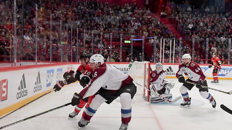 Die NHL-Teams Colorado Avalanche und Ottawa Senators duellierten sich erneut in der Globen Arena in Stockholm