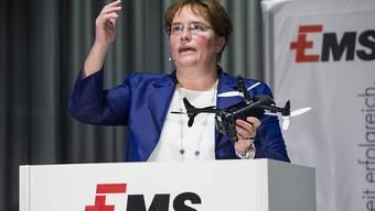 Beim Umsatz geht es bei der Ems-Gruppe wieder aufwärts: CEO Magdalena Martullo. (Archivbild)