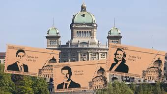 Wer zieht bald ins Bundeshaus ein? Heute Freitag entscheidet die FDP-Fraktion in Neuenburg, wen sie ins Rennen um die Nachfolge von Didier Burkhalter schickt.