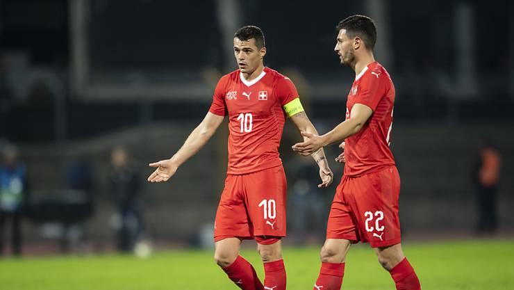 Bei den Schweizern lief gegen Katar nichts zusammen. Granit Xhaka (Nummer 10) und Fabian Schär sind ratlos