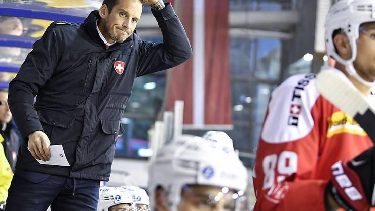 Headcoach Patrick Fischer sah im ersten von zwei Testspielen gegen Dänemark eine Niederlage