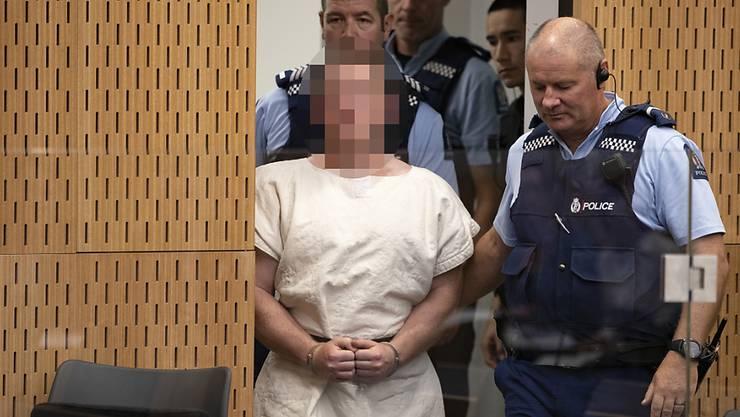 Der mutmassliche Attentäter von Christchurch ist am Freitag (Ortszeit) erneut zu einem Gerichtstermin in Neuseeland erschienen - diesmal per Video-Übertragung aus dem Gefängnis. (Archivbild)