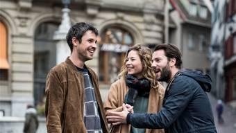 Gemeinsam performten Georg Dillier, Anna Rossinelli und Manuel Meisel das erste Mal auf der Freien Strasse.