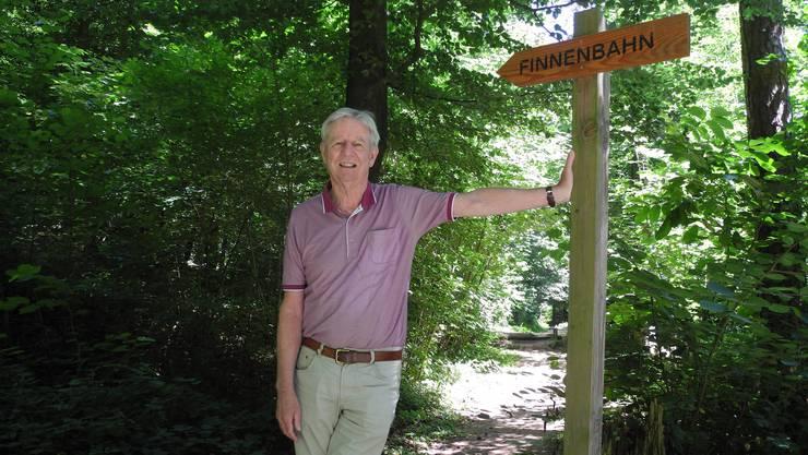 Rolf Rietmann ist erleichtert, dass die Gemeinde die Wartung der Finnenbahn übernimmt.