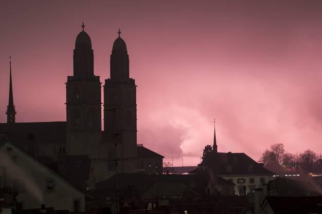 Das Silvesterfeuerwerk in Zürich.