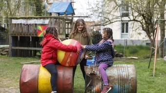Die Villa 41 ist einer der Quartierspielplätze, wo sich die Kinder austoben können.