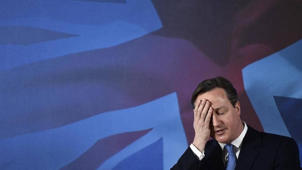 Als hätte er es geahnt: David Cameron bei einer Rede vor der Brexit-Abstimmung.