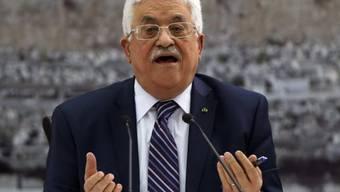 Palästinenserpräsident Mahmud Abbas in Ramallah