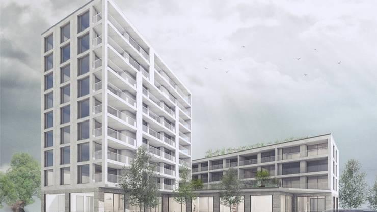 Der Neubau ist drei Stockwerke höher als das bisherige Gebäude.