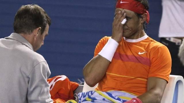 Rafael Nadal musste Viertelfinal in Melbourne aufgeben