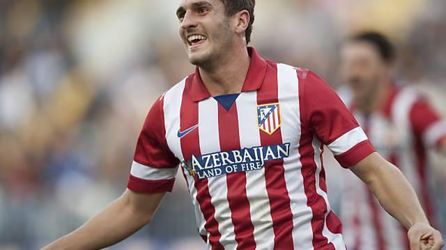 Koke schoss Atletico zum Sieg gegen Malaga.
