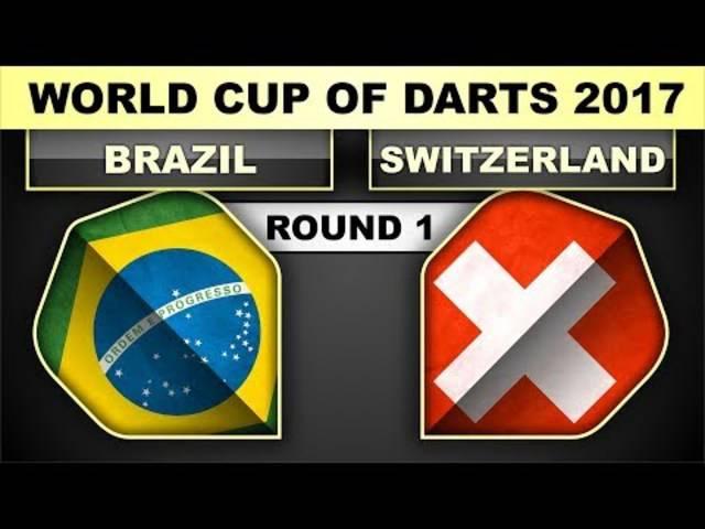Brasilien - Schweiz + Interview World Cup Of Darts 2017 Round 1