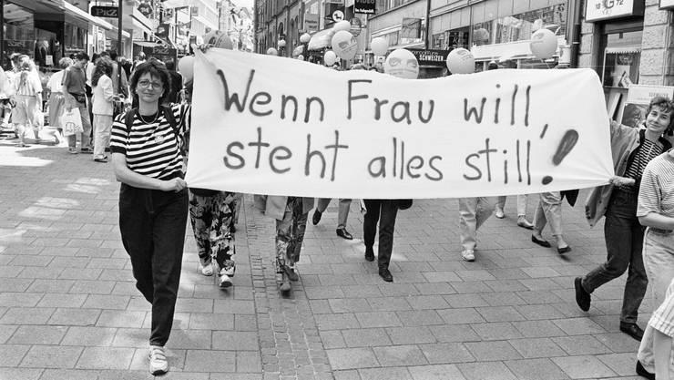 Am 14. Juni 1991 traten hunderttausende Frauen auf die Strasse, um für ihre Rechte zu demonstrieren. Am 14. Juni 2019 soll sich das Spektakel nun wiederholen.
