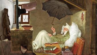 Spitzwegs Gemälde «Der arme Poet».