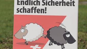 Das bekannte Schafplakat zur Durchsetzungsinitiative