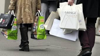 Shopping ist im Aargau bis mindestens am 22. Januar nicht möglich.