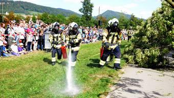 Hauptübung dreier Niederämter Feuerwehren