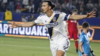 Nicht zu stoppen: Zlatan Ibrahimovic erzielte im Derby von Los Angeles drei Treffer