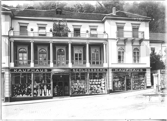 Einst Kasino und Synagoge: Das Kaufhaus Schlossberg um 1910.