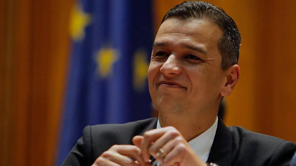 Sorin Grindeanu, der vom rumänischen Parlament gewählte neue Regierungschef